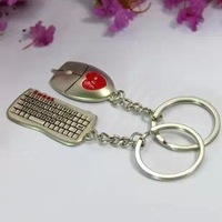 Key Chains Keychain key chain lovers design mouse keyboard series of small gift accessories logo  key chain wholesales