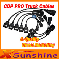 Better Quality And Lower Price Free Diagnostic TCS CDP Pro Cables Trucks Full Sets With 8 Cables For Trucks Shipping