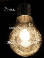 Free shipping Dia 25cm Modern Creative Glass Bulb pendant lights Fashion European hallway bedroom lighting fixture PL124