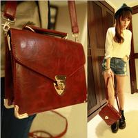 Fashion metal decoration lockbutton 2013 vintage small bag one shoulder cross-body female bag