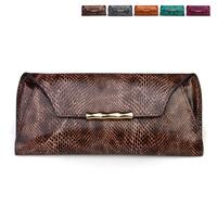 2012 long design women's wallet serpentine pattern cowhide wallet envelope genuine leather wallet coin purse