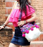 Cute Bag Thai Items Embroidry Shoulder Bag PU Bag Reto Handbag/Mesager Bag Personalized Boho Fashion Hot Selling