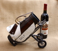 New arrival iron golf ball car wine rack wine rack fashion wine rack fashion vintage theroom