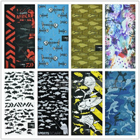 Fish pattern outdoor bandanas sunscreen magicaf bandanas seamless ride magic muffler scarf wigs collars