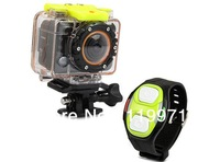 Full HD 1080p 170 Degree Wide Angle Lens Mote Controller, Wi-Fi Sport Diving DVR Camcorder w/ RF Re Black SDV-5G9, free shipping