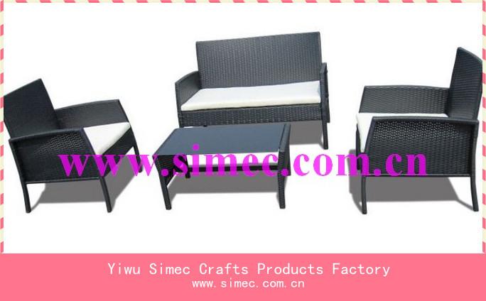 Cadre en acier en plein air kd canap en rotin meubles - Canape en osier ou rotin ...
