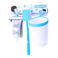 Mini order$10(mix order)bathroom three piece set toothpaste box toothpaste shukoubei toothbrush holder strong suction cup -