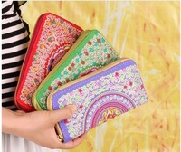 Free Shipping Fashion New Chinese National Style Embroidery Wallet Coins Flower Embroidery Handbags Multicolor Women's Handbags