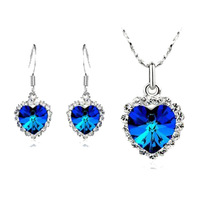 2013 Hot-selling accessories crystal accessories crystal necklace earrings accessories set