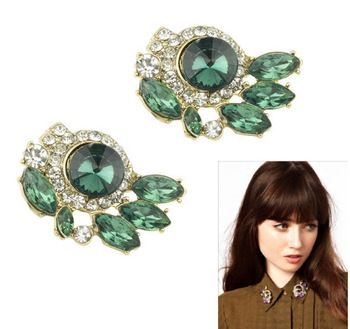 Europe style hot selling high-quality imitation diamond with crystal flower  pin collar flower factory direct Y032