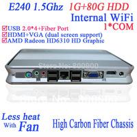 xtreamer ultra htpc with RS232 internal wifi HDMI AMD E240 1.5Ghz 1080P dual screen display 1G RAM 80G HDD Windows 7 or XP Linux
