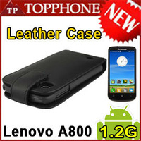 FREE Singapore POST Genuine Leather Cover for Lenovo A800 Doormoon Brand Leather case A800