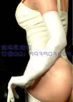 Free shipping Latex gloves long latex gloves women's white long gloves cosplay
