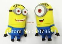 Free shipping   cartoon Minions toy 4GB/8GB/16GB/32GB USB 2.0 flash  memory stick pen drive