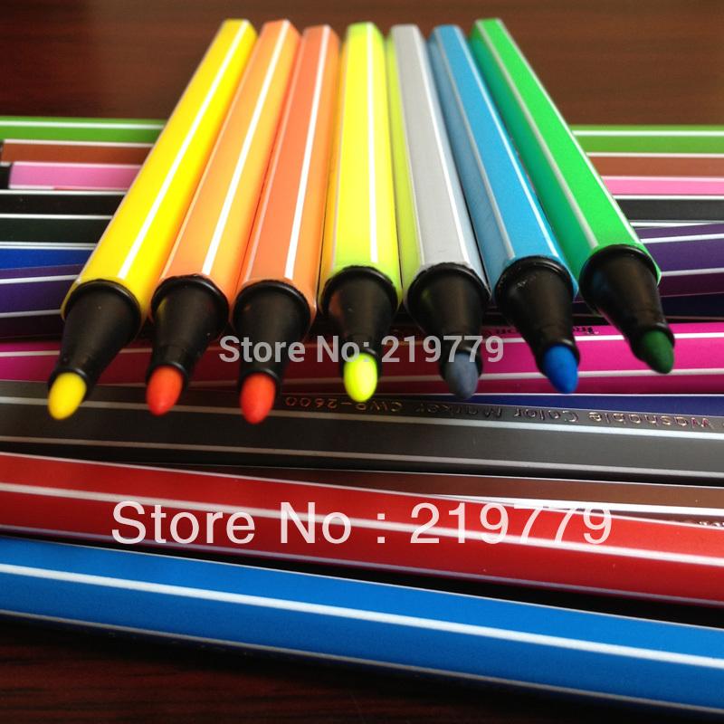 18 colors/set 16.7*1cm Washable Watercolor Pen Set Kids Water Color Marker Drawing Pens for Children(China (Mainland))