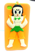 for 2013 new iphone4/4s Apple 4 cartoon glue craft gourd doll silicone protective shell