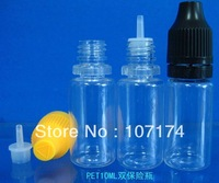 Free Shipping 2500pcs PET10ML double insurance cover bottles With Braille standard Thin Tip Security cap Burglar pressure cap