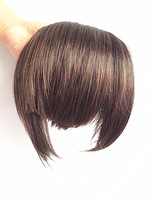 2 Clips In/On Bangs Hair  Fringes  Earlock Long Side Wigs #2/33 Dark Auburn Color
