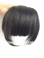 2 Clips In/On Bangs Fringes Hair Extension Wigs Earlock Long Side #2 Dark Brown Color