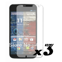 Free Shipping 3X Clear Screen Protector Guard Film HQ LCD for Motorola Moto X PHONE XT1055