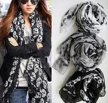 skull print scarf price