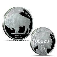 Golden State Mint 100pcs/lot Free Shipping 2013 American Buffalo 999 Pure Fine Silver Plated Troy Ounce Liberty Bullion coin