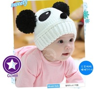Baby Panda Hat Knit Warm Hat Children's hat Sleeve Cap Kid Hats For Winter and Spring Baby Caps for boy and girl