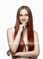 Clips On/In Remy Hair Extension Synthetic  #2/33 24 Inch Dark Auburn Color Women's Long Straingt 120g