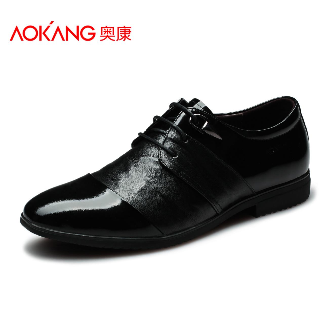 Aokang 2013 мужской кожи дышащий мода шнуровкой формальные лоскутная кожа мужской обуви
