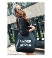 Free shipping, Women's handbag un letter soft PU brief fashion one shoulder bags large capacity formal women's handbag