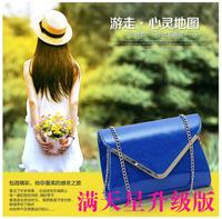 Free shipping, Trend v metal women's handbag mantianxing chain small bags shoulder bag  shoulder bag