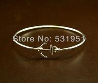 Fashion Christmas Gift !!6pcs  Fashion Silver plated anchor bangle women gift  , Unique Bracelet ,Birthday Gift