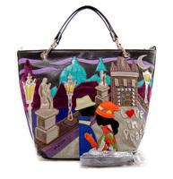 Women Handbag New Time-limited Zipper Totes 2014 Women's Spring Handbag One Shoulder Braccialini Personalized Bag free Shipping
