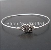 Fashion Christmas Gift !!6pcs Owl Bangle Bracelet, Cute Owl Bracelet, Owl Bracelet Charm