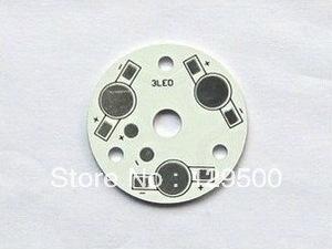 FREE SHIPPING 100pcs/lot 3*1W High Power LED Heat Sink Aluminum Base Plate