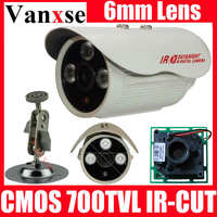 Vanxse CCTV 3 Array LED IR-CUT waterproof Surveillance camera W/Bracket 6mm lens CCD camera CMOS 700TVL HD D/N Security camera