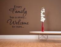Every family has a story...Welcome to ours Vinyl wall decals quotes sayings word On Wall Decal Sticker