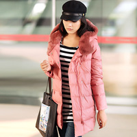 Free shipping 2013 winter slim medium-long rex rabbit hair down coat female plus size outerwear