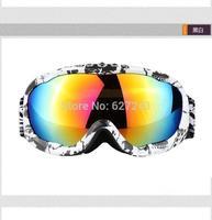 CPAM Free Shipping Women ski goggles Prevent Mist Prevent Wind Sport Glasses White+Black skiing glasses snow glasses