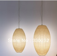 Dia 17cm George Nelson Design Modern Silk Cigar Bubble pendant light+Free shipping PL202