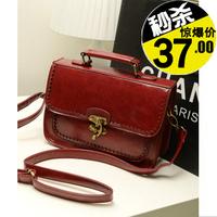 Double faced 2013 messenger bag laciness cutout vintage women's bag work bag handbag cross-body women's handbag