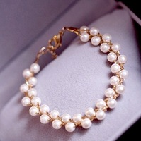 Fashion pearl bracelet bangle jewelry for Women and men FREE SHIPPING
