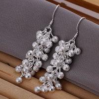 925 silver earrings 925 sterling silver fashion jewelry earrings beautiful earrings high quality Polished Purple Bean Earrings