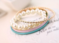 Fashion strand pearl bracelet bangle jewelry for Women and men FREE SHIPPING