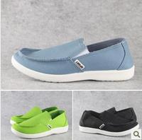 2013Men's Canvas  Beijing Flats Boat Shoes  Single Moccasins Shoes Lazy Pedal Gold Wooden Fish Shoes