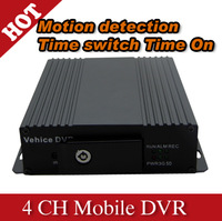 4 Channel SD card hd Mobile DVR car DVR with cheaper price and good quality - H600