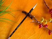 Free shipping Meaned calligraphy brush weasel hair lake pen book premium