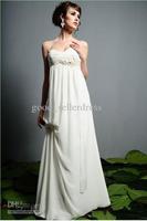 22012 Sexy Wedding Dress/Dresses empire Handmakeflower Hanlter Ivory White Beach
