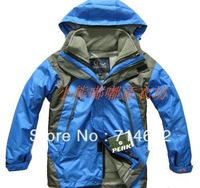 F ree shipping Child thermal twinset outdoor ski suit jacket outerwear wadded jacket trench 5-color
