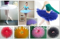 Adult Professional Ballet Tutu Hard Organdy Platter Skirt Dance Dress 7-layer